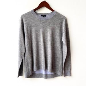 J. Crew Gray Lightweight Wool Sweater Tunic
